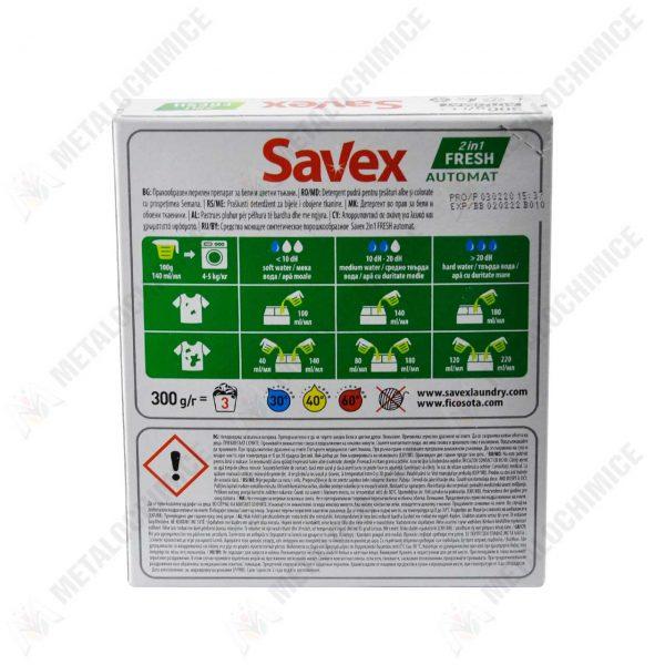 pachet 10x detergent de rufe automat savex 2in1 fresh 300g 3
