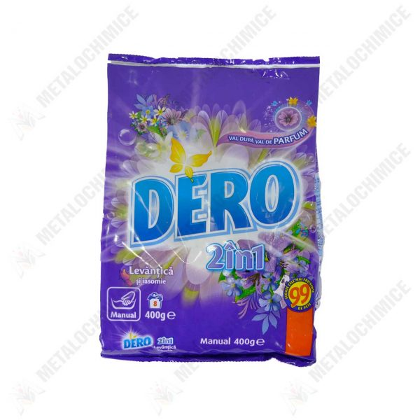 pachet 12 x detergent de rufe manual dero 2in1 levantica si iasomie 400g 2