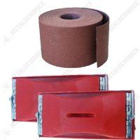 pachet 2 x suport pentru smirghel 90mm x 165mm 1 x rola smirghel granulatie 100