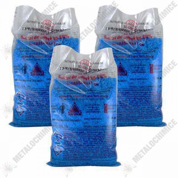 pachet 3 bucati piatra vanata sulfat de cupru 1kg 1