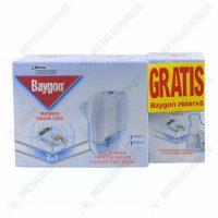 pachet 5 baygon aparat tantari cu 10 rezerve lichide 27 ml 2