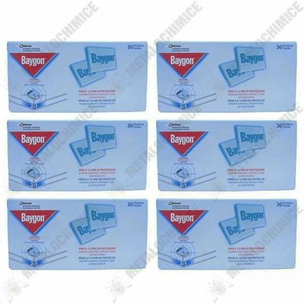 pachet baygon pastile impotriva tantarilor 6 x 30 buc 1