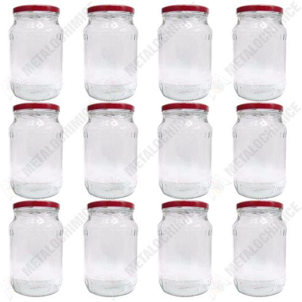 BAX 12 - Borcan sticla cu capac 720 ml  din categoria Sticle, Borcane si Peturi