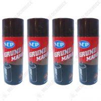 Pachet 4 bucati, Vopsea spray, Sep grund, Maro, 400ml  din categoria Spray-uri