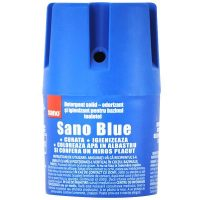 sano blue odorizant si igienizant pentru bazinul toaletei detergent solid 150g