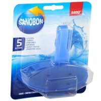 sanobon fresh scent toilet rim block odorizant pentru agatat in vasul de wc 55g