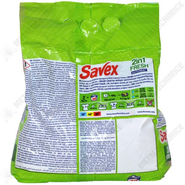 Savex 2in1 Fresh, detergent automat, 2 kg