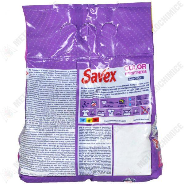 Savex Color Brightness, Detergent rufe automat, 2 kg