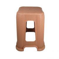 scaun taburet din plastic imitatie de ratan 1