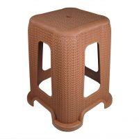 scaun taburet din plastic imitatie de ratan 2