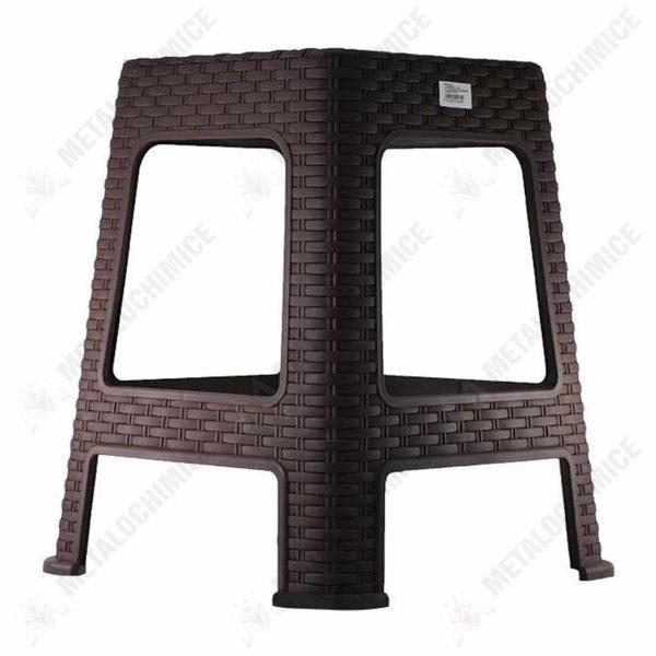 scaun terasa plastic imitatie ratan maro 1