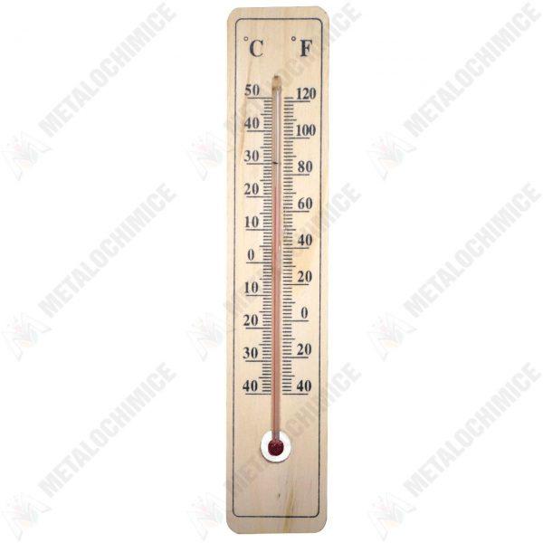 Pachet 10 bucati - Termometru de exterior, Din lemn, Gradatie Celsius si Fahrenheit