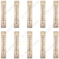 Pachet 10 bucati - Termometru de exterior, Din lemn, Gradatie Celsius si Fahrenheit  din categoria Diverse pentru casa
