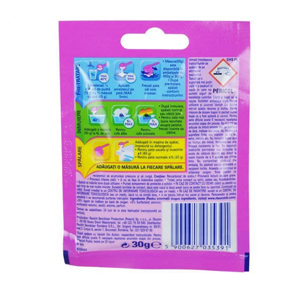 Vanish Oxi Action pudra plic 30g  din categoria Detergenti rufe