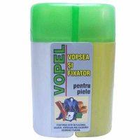 Pachet - 2 x Vopel Alb, Vopsea pentru piele si fixator + 4 x Acetona, Dizolvant, 50 ml + Dischete curatare 70 buc.  din categoria Vopsele piele