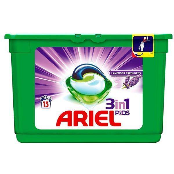 Detergent capsule Ariel 3 in 1 capsule 15 buc