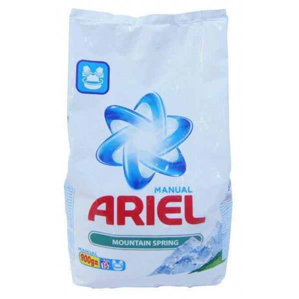 Pachet 5 bucati - Ariel Mountain Spring, Detergent manual la punga, 5 x 900 g
