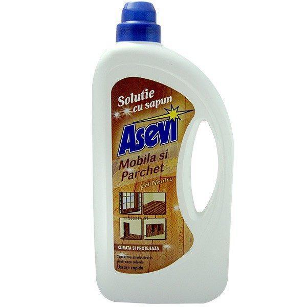Pachet 3 bucati - Asevi cu sapun, Solutie pentru parchet si mobila, 3 x 950ml
