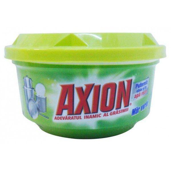 Pachet - 6 x Detergent lichid, Fairy Sensitive, Pentru vase, Green Apple, 900ml + Axion ultra prospetime, 400g + Axion ultra degresant, 400g + Axion Lemon, 400g + Axion mar verde, 225g + 10 x Bureti de vase, 2/Set