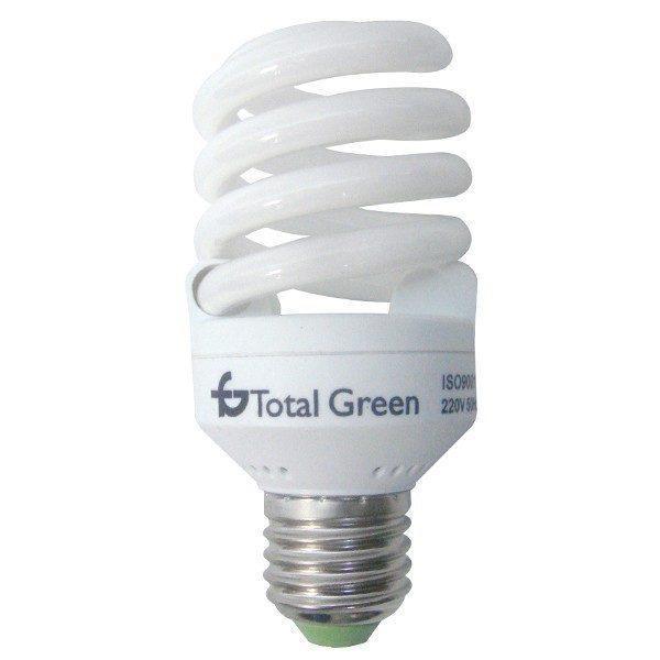 Bec spirala, Total Green, 10000 Ore, lumina calda, E27, 20W