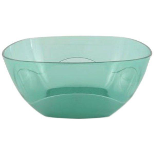 Bol patrat din plastic Nr.4, Cristal, Verde, 4L