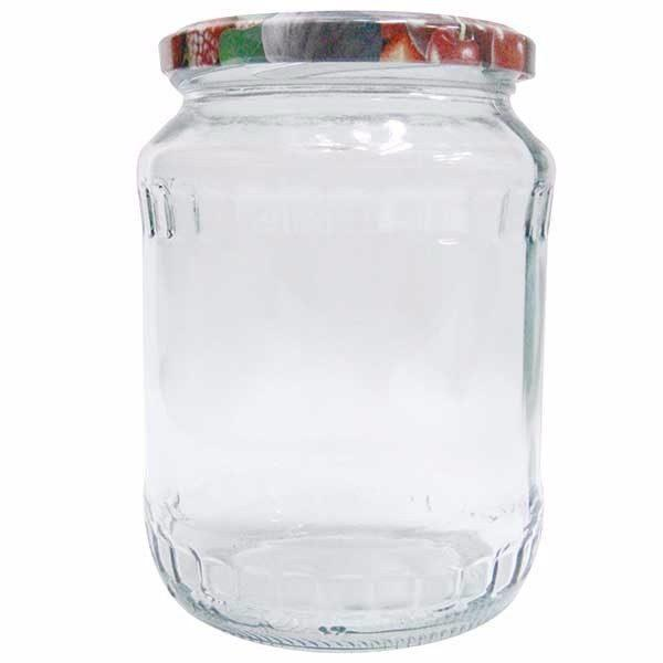 Pachet 16 bucati - Borcan 1.7 litri cu capac, Borcane din sticla cu capace prin infiletare + 20 x Presa pentru muraturi 1.75l - 2l - 3l - 5l