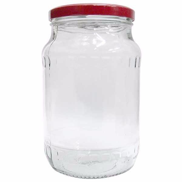 Pachet - 48 bucati, Borcan 720 ml cu capac, Borcane din sticla cu capace prin infiletare + 50 x presa pentru muraturi 800g - 1000g