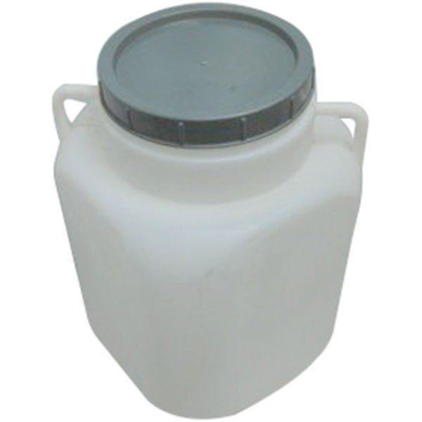 Pachet 2 bucati - Butoi 50L patrat din plastic alimentar, Bidon cu capac prin infiletare si manere   2 x Presa rotunda pentru butoi 28cm   Teava pentru suflat / pitrocit