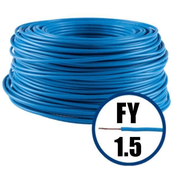 Cablu H07V-U, conductor electric FY 1.5 mmp, albastru 100 M