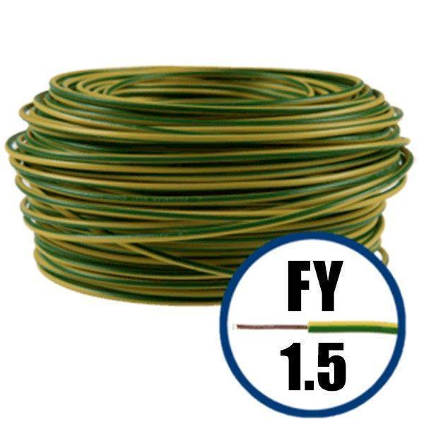 Cablu electric FY 1.5 - 100 M - H07V-U - galben / verde