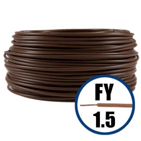 Cablu / Conductor electric FY 1.5 mmp, H07V-U, maro, 100 m
