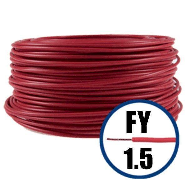cablu electric conductor fy 1.5 rosu 100m cupru plin