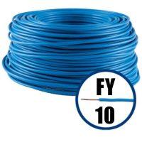 cablu electric conductor fy 10 albastru 100m cupru plin