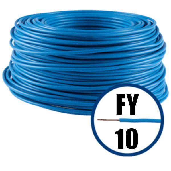 Conductor FY 10 - 100 M - ALBASTRU - Cablu curent cupru plin - H07V-U 1