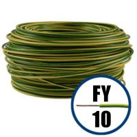 Cablu / Conductor electric FY 10 mmp, H07V-U, galben verde, 100 m  din categoria Conductori electrici