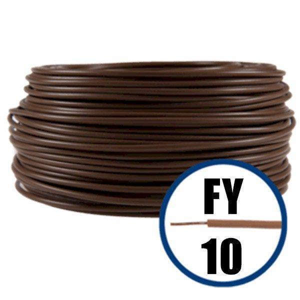 Cablu electric FY 10 – 100 M – H07V-U – maro