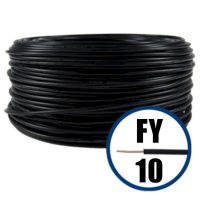 cablu electric conductor fy 10 negru 100m cupru plin