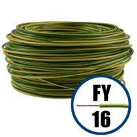 Conductor FY 16 - 100 M - GALBEN / VERDE - Cablu curent cupru plin - H07V-U