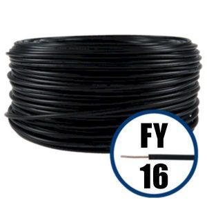 Conductor FY 16 - 100 M - NEGRU - Cablu curent cupru plin - H07V-R