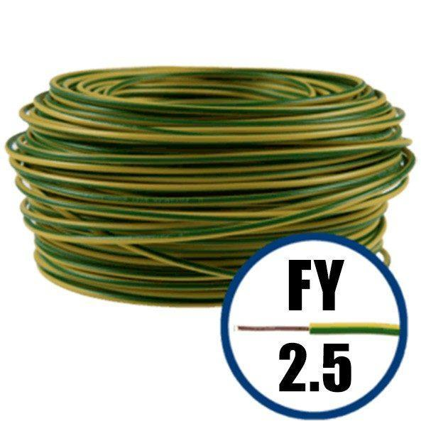 Cablu electric FY 2.5 – 100 M – H07V-U – galben / verde