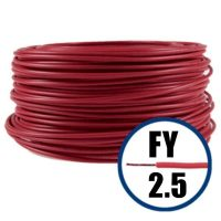 Cablu FY 2.5 mmp, conductor electric H07V-U rosu 100 M  din categoria Conductori electrici