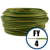 Cablu / Conductor electric FY 4 mmp, H07V-U, galben-verde, 100 m  din categoria Conductori electrici