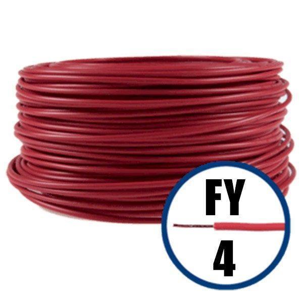 Cablu electric FY 4 – 100 M – H07V-U – rosu  din categoria Conductori electrici