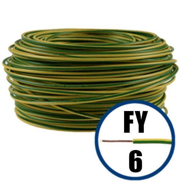 Cablu electric FY 6 – 100 M – H07V-U – galben / verde