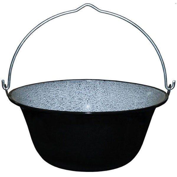 Pachet - Ceaun tabla emailata, 33cm/8 litri, Tuci - Trepied pentru ceaun