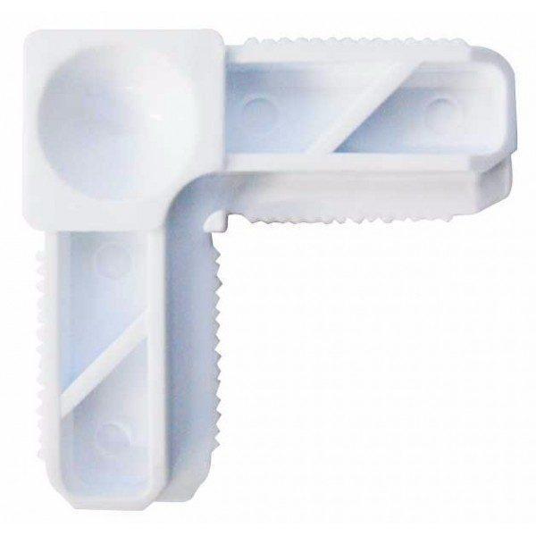 Pachet Accesorii Plase insecte (ALB) - 20 x Coltar + 10 x Balama + 5 x Snaper + 5 x Maner + 70 Autoforant + 30m Garnitura + 7m Plasa insecte (Latime: 1m)