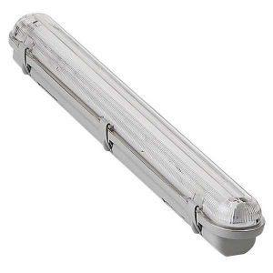 Corp neon IP 65 1x18W cu protectie umiditate, cu tub neon inclus