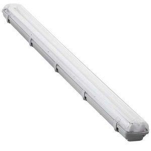 Corp neon IP 65 2x18W cu protectie umiditate, cu tuburi neon incluse