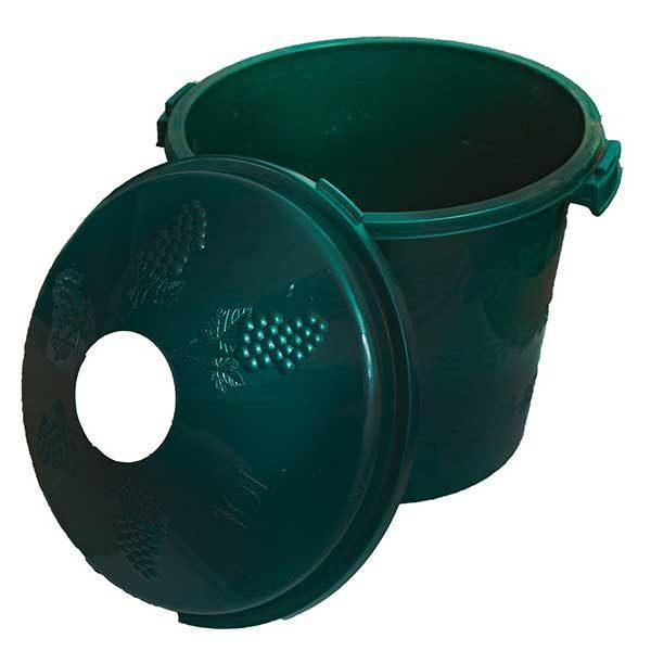 Pachet 4 bucati - Cos damigeana, 10 litri, Din plastic Verde