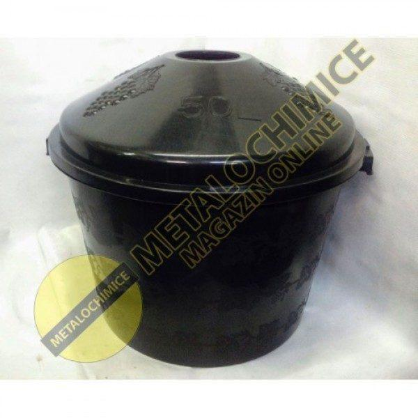 Cos damigeana 50 litri din plastic negru